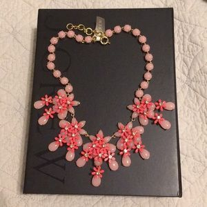 AUTH JCREW Floral Cascade Necklace, Pink, NEW!!